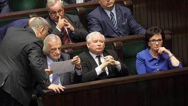 JPosiedzenie sejmu .  Pierwsze czytanie ustawy o Trybunale Konstytucyjnym .