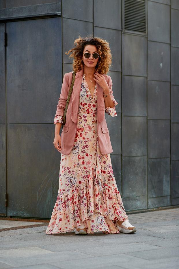 Sukienka maxi do żakietu