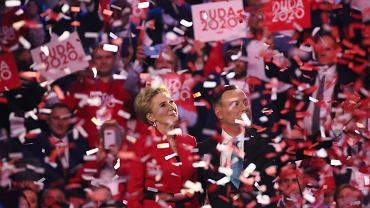 Prezydent Andrzej Duda i Pierwsza Dama Agata Duda na konwencji PiS