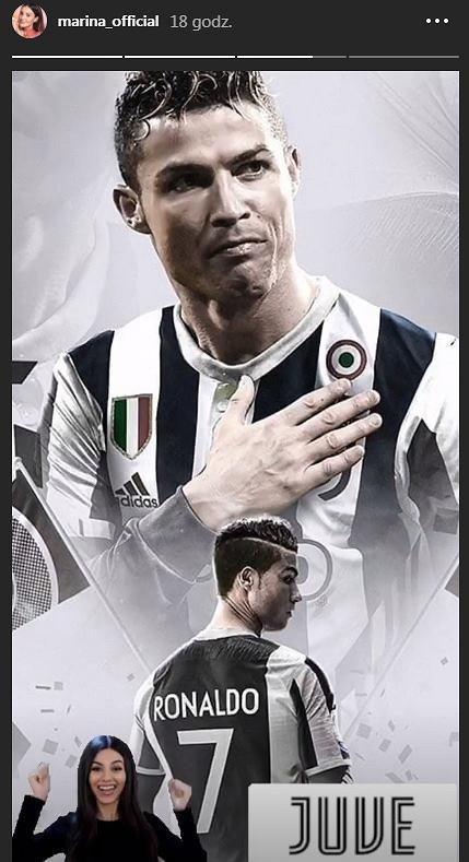 Marina Łuczenko-Szczęsna zachwycona transferem Cristiano Ronaldo do Juventusu (Instagram)