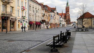 Koronawirus w Polsce. Puste centrum Białegostoku