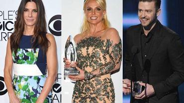 Britney Spears, Justin Timberlake, Sandra Bullock