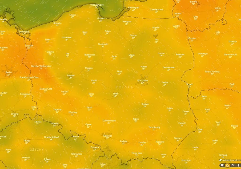 Od czwartku prognozowany jest wzrost temperatury w całej Polsce - w weekend ponad 20 stopni.