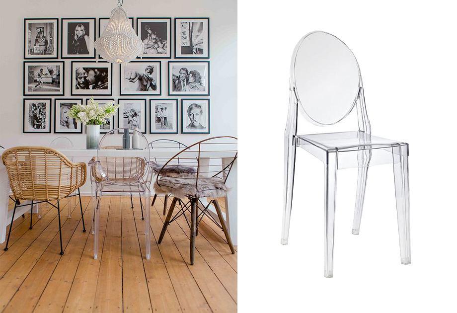 Krzesło 'duch' w jadalni