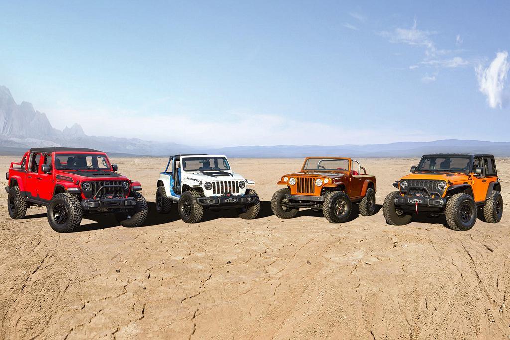 Jeep Gladiator Red Bare, Magneto, Jeepster Beach i Orange Peel