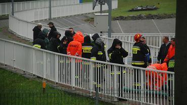 Akcja ratunkowa na zaporze w Wilkowicach