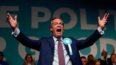 Nigel Farage lider Partii Brexit.