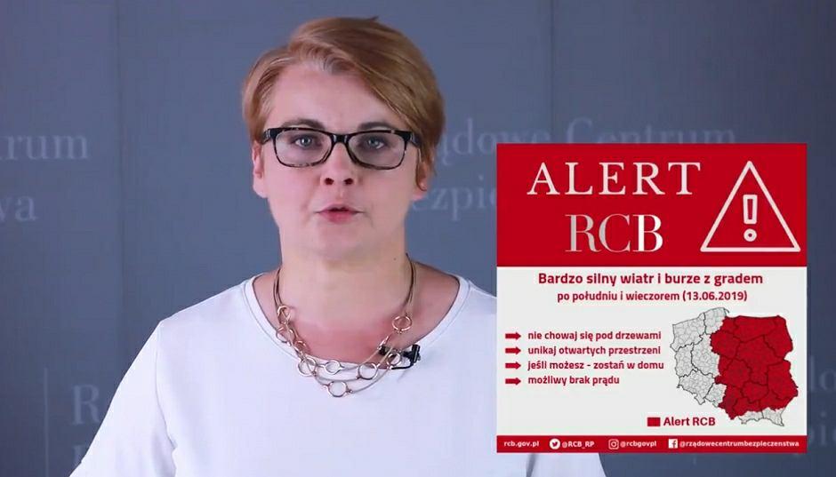 Anna Adamkiewicz z Rządowego Centrum Bezpieczeństwa
