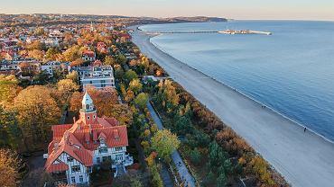 al sea line landscape of Sopot