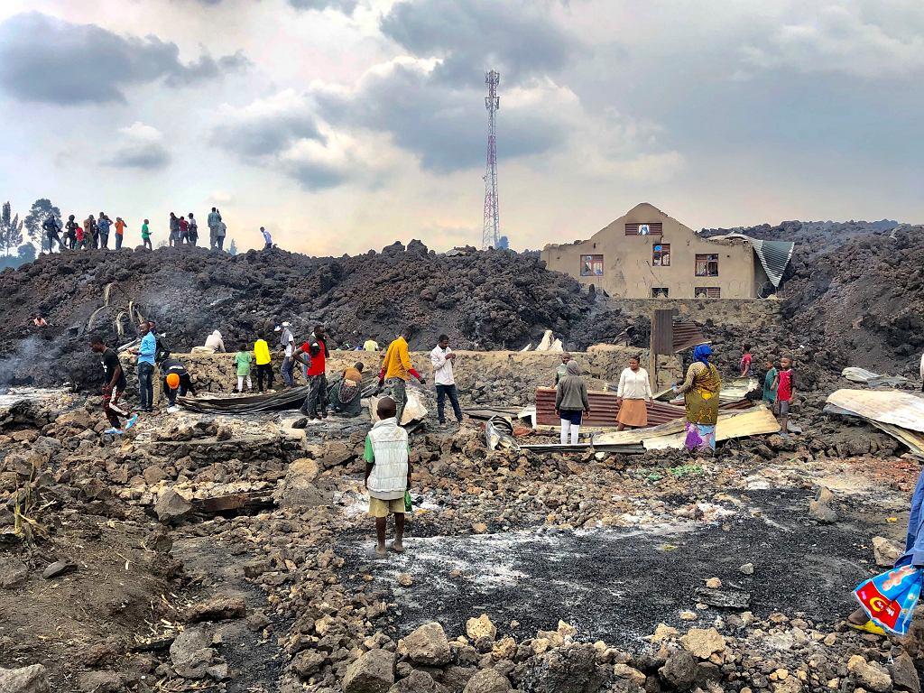 Demokratyczna Republika Konga. 32 ofiary po erupcji wulkanu. UNICEF: zaginęło ponad 100 dzieci