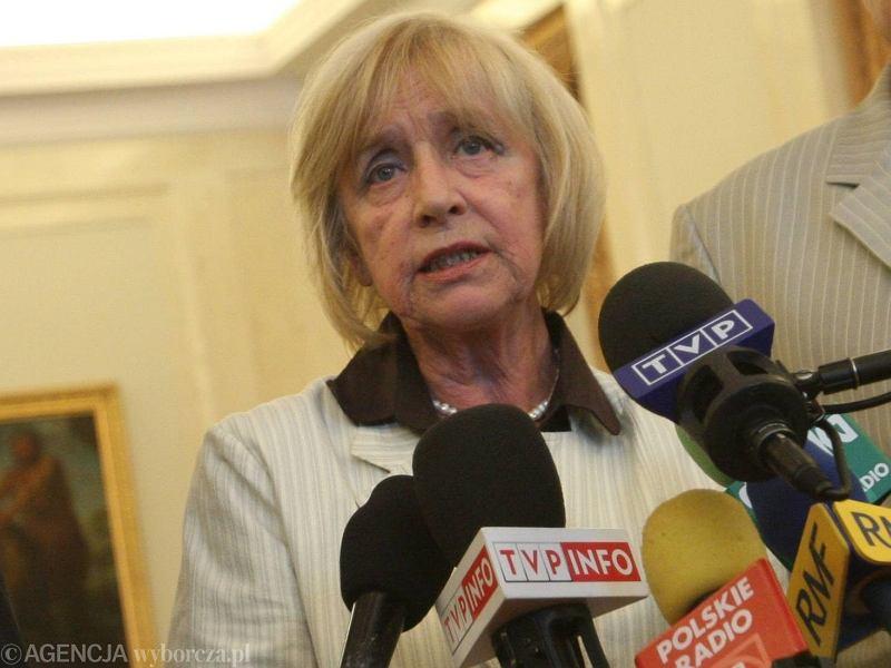 Janina Jankowska, była przewodnicząca rady programowej Polskiego Radia i TVP