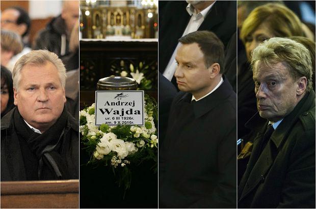 Zdjęcie numer 0 w galerii - Pogrzeb Andrzeja Wajdy. Pożegnali go prezydent Andrzej Duda, Bronisław Komorowski oraz artyści.