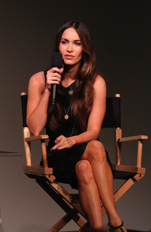 6123964, Megan Fox speaks during an interview inside the Apple Soho Store in Manhattan, NYC. New York, New York - Tuesday, August 5, 2014. Photograph: ? Jose Perez, PacificCoastNews. Los Angeles Office: +1 310.822.0419 London Office: +44 208.090.4079 sales@pacificcoastnews.com FEE MUST BE AGREED PRIOR TO USAGE