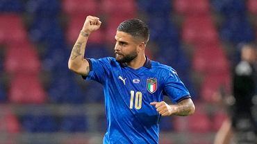 Lorenzo Insigne podczas meczu Włochy - Czechy.