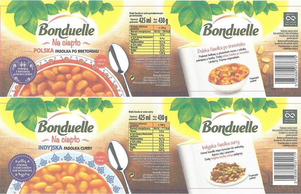 Ostrzeżenie GIS: Wycofanie ze sprzedaży produktów w puszkach firmy Bonduelle