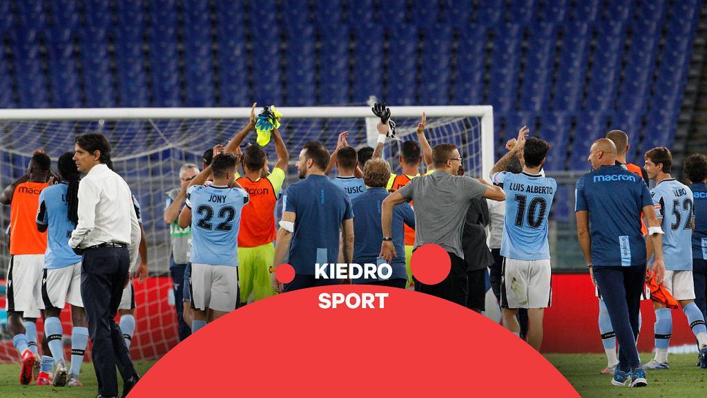 Piłkarze Lazio po meczu w Serie A