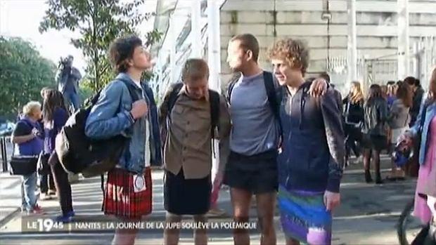 Protest francuskich uczniów