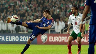 Bułgaria - Chorwacja 0:1. Z prawej Władimir Gadżew