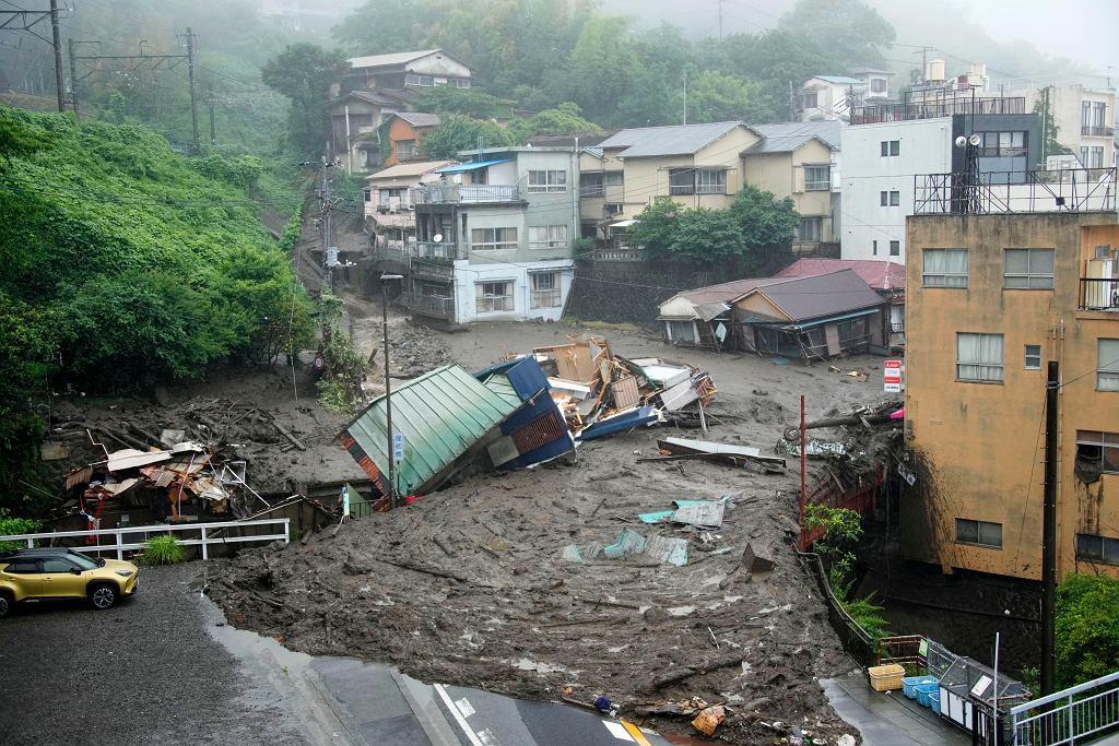 Japonia. Lawina błotna uderzyła w prefekturę Shizuoka