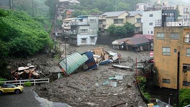Japón.  El deslizamiento de tierra golpeó la prefectura de Shizuoka