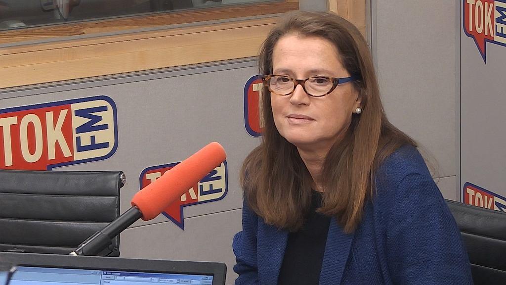 Monika Jaruzelska w studiu TOK FM.
