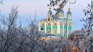 Smoleńsk w zimowym krajobrazie