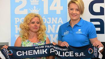 Prezes klubu Joanna Żurowska i Izabela Kowalińska