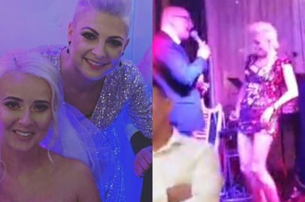 Magda Narożna na weselu kolegi z disco polo