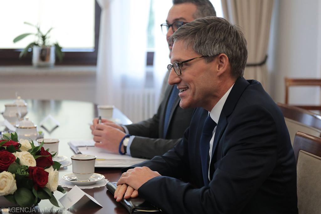 Doradca Departamentu Stanu USA Derek Chollet w Warszawie