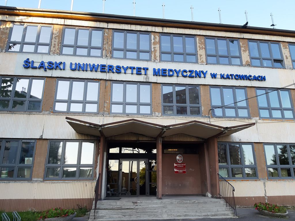 Trwa termomodernizacja budynku Śląskiego Uniwersytetu Medycznego przy ulicy Jagiellońskiej 4 w Sosnowcu