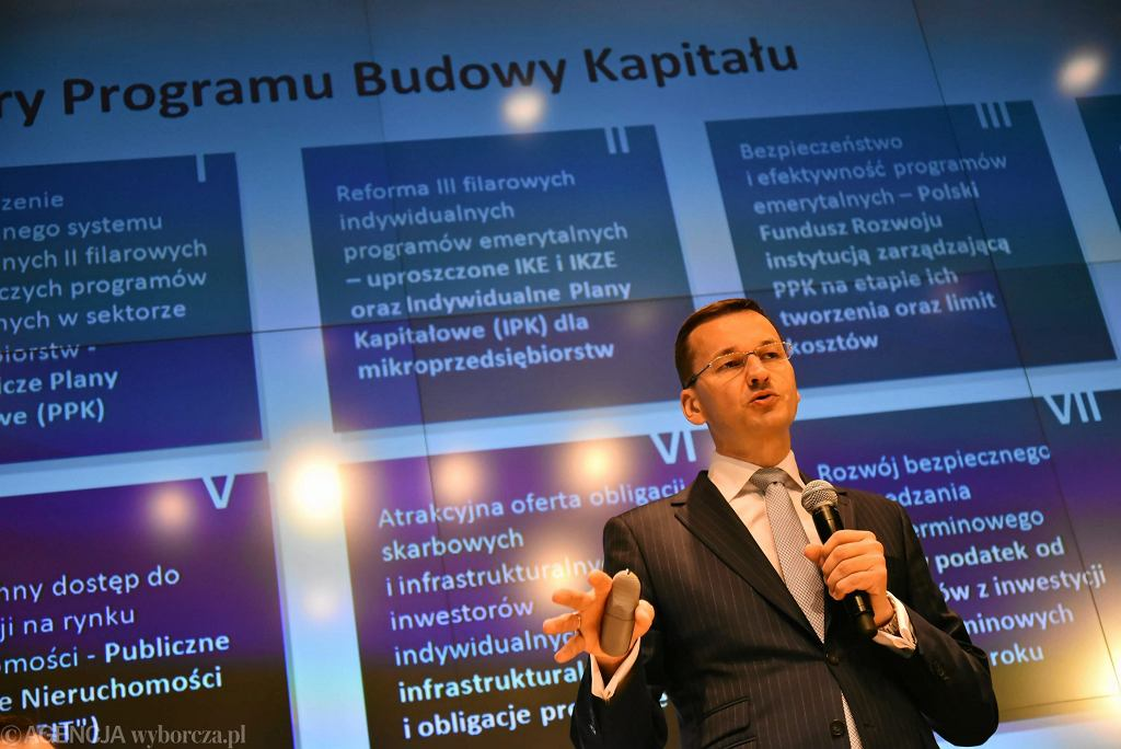Konferencja ministra Mateusza Morawieckiego poświęcona przyszłosci emerytur i OFE, Warszawa 04.07.2016