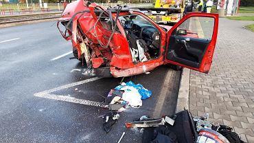 Wypadek na skrzyżowaniu al. Jana Pawła II i ul. Stawki