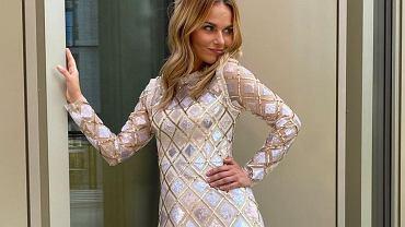 Paulina Sykut-Jeżyna w cekinowej sukience