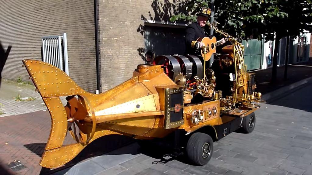 Arthur van Poppel i jego maszyna w kształcie ryby