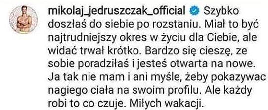 Komentarz Mikołaja Jędruszczaka