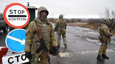 Punkt kontrolny ukraińskiej armii w Donbasie