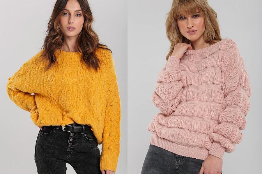 Sweter damski z rękawami XXL