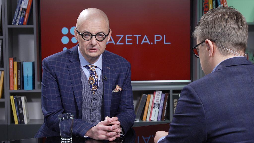 Wicemarszałek Senatu Michał Kamiński w studio Gazeta.pl