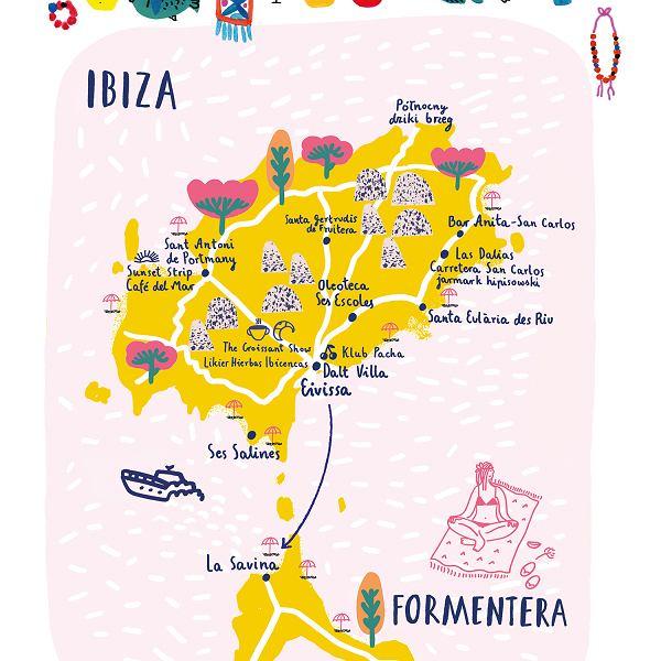 Mapa Ibizy
