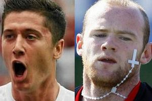 Wayne Rooney, Robert Lewandowski.