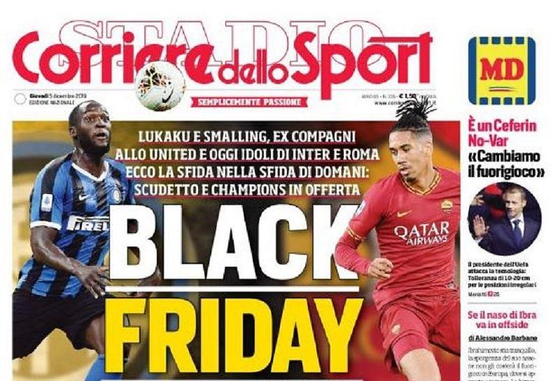 Kontrowersyjna okładka 'Corriere dello Sport'