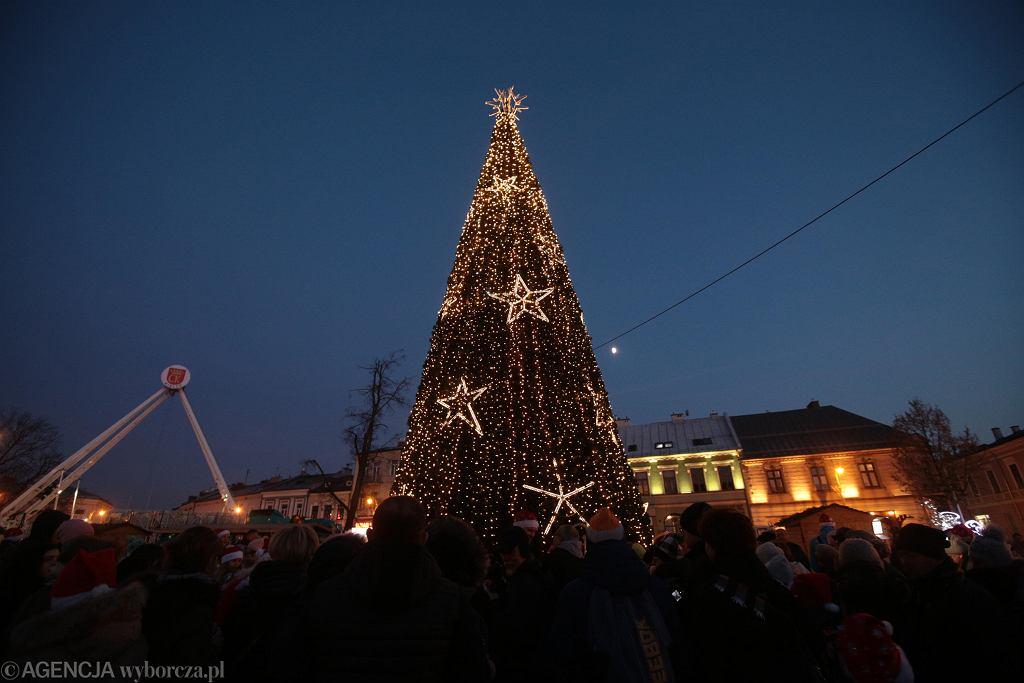Dekoracje świąteczne w Kielcach