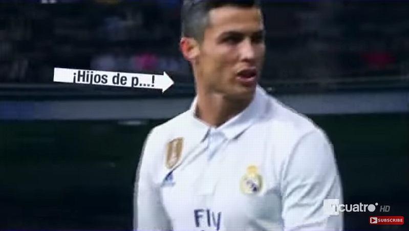Cristiano Ronaldo wyzywający kibiców