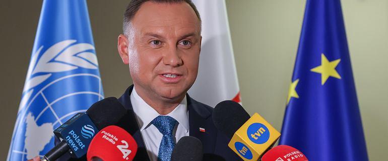 Andrzej Duda udzielił wywiadu TVN24. Otwarcie zachęcał do szczepień