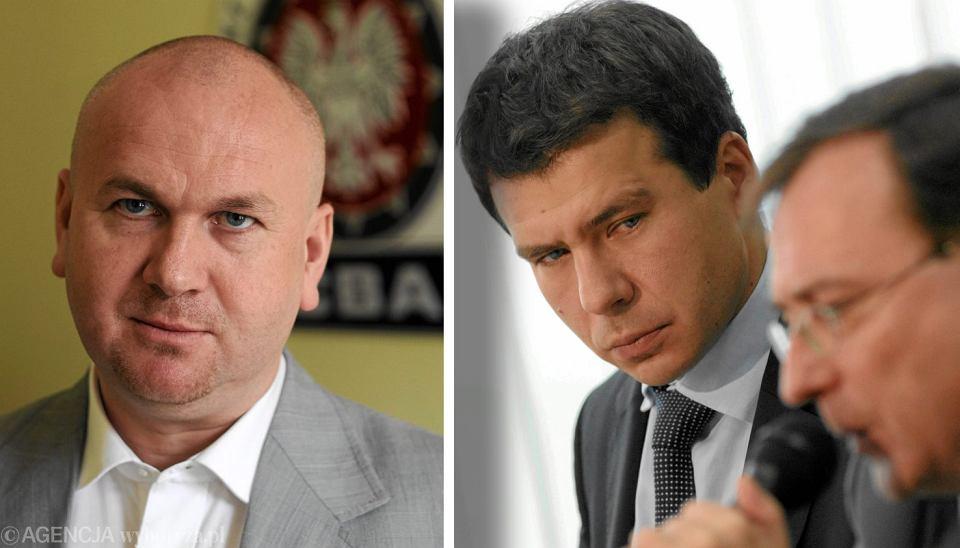 Szef CBA Paweł Wojtunik (z lewej) i typowany na jego następcę Ernest Bejda - bliski współpracownik ułaskawionego Mariusza Kamińskiego (byłego szefa CBA - obecnie koordynatora służb specjalnych)