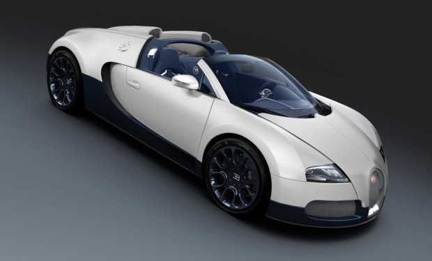 Bugatti Veyron Grand Sport Matte White Blue Carbon 2011