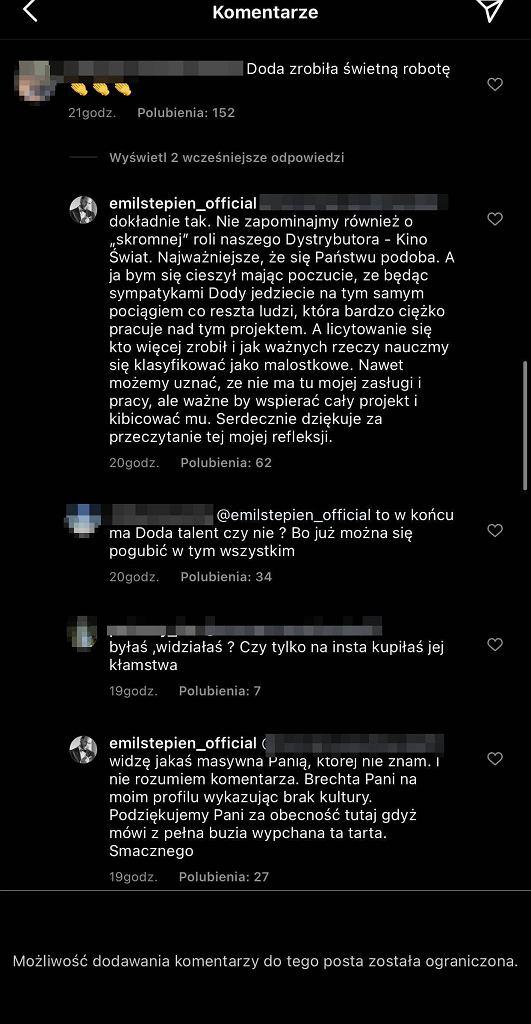 Emil Stępień obraził internautkę