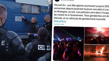 Nielegalna impreza we Francji