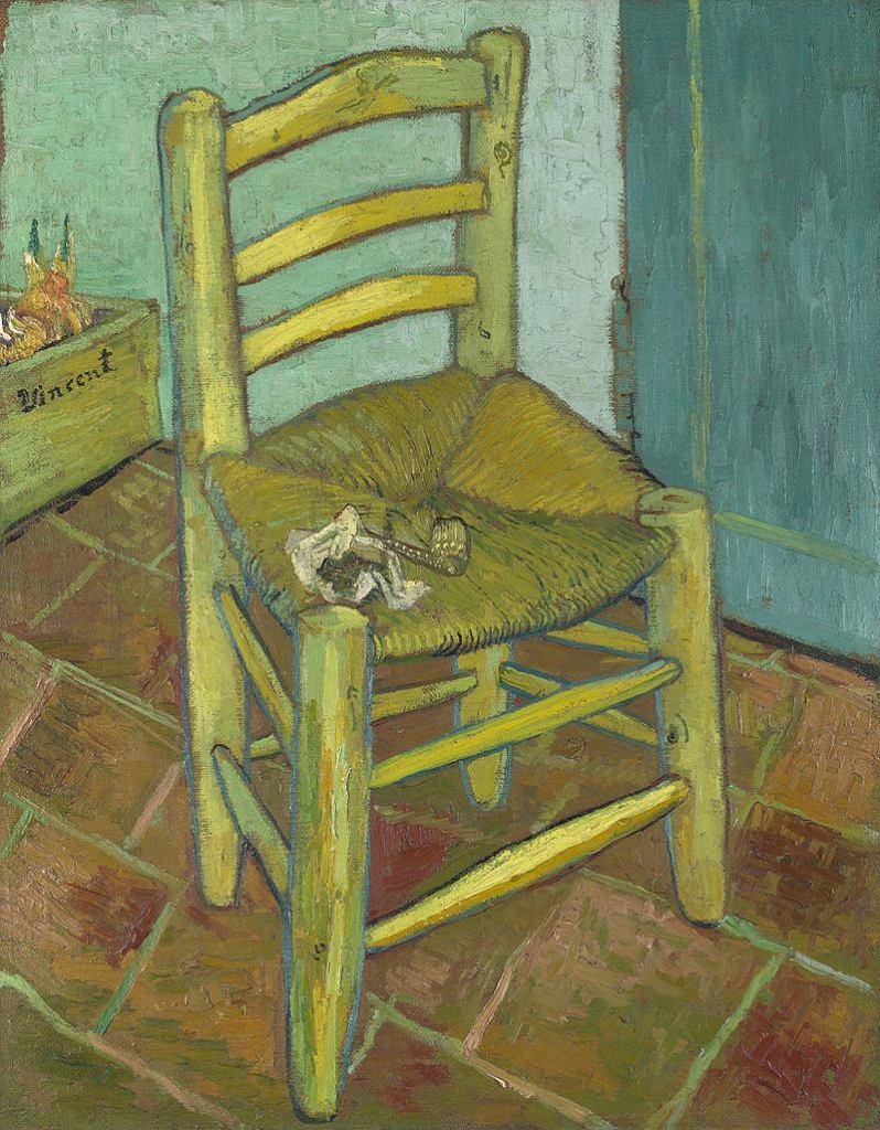 Vincent van Gogh. Krzesło Vincenta z jego fajką, 1888 / Domena publiczna / National Gallery w Londynie