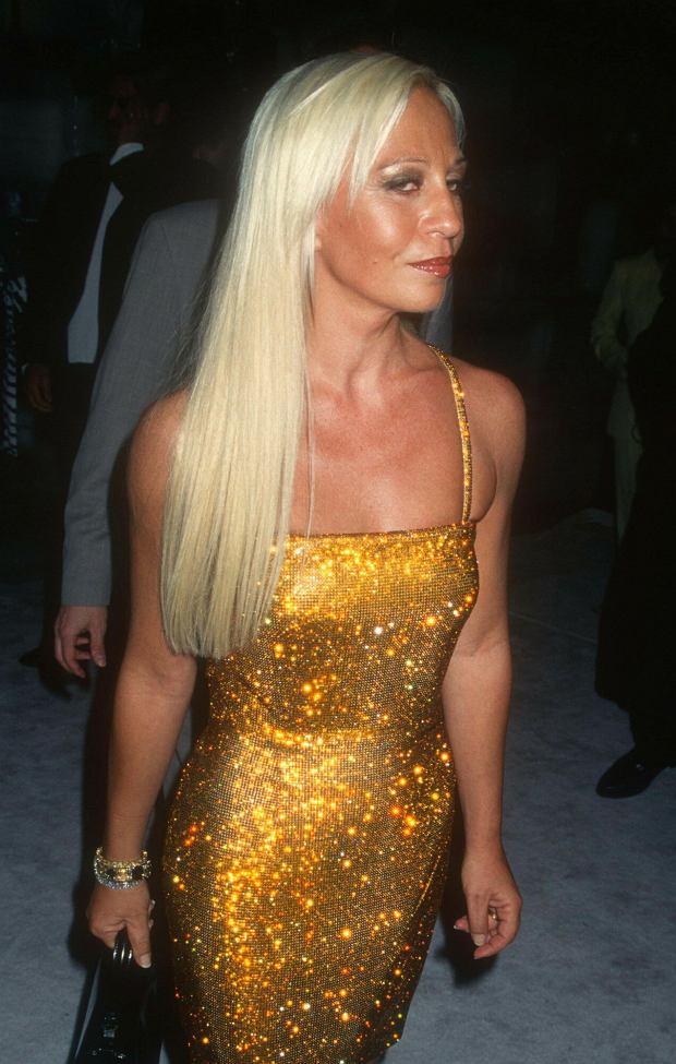 <Donatella Versace 1992.Photo By John Barrett/PHOTOlink.net..